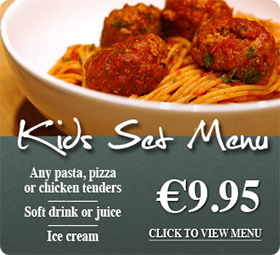 Kids set menu at Da Mario Restaurant Celbridge �9.95