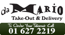 Da Mario Takeaway Phone Number - 01 627 2219